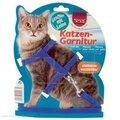 Шлейки и ошейники для кошек: Trixie 4185 Шлейка для кошек однотонная с поводком, нейлон 35см*10мм (упаковка 1шт)
