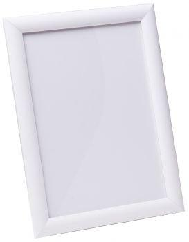 Рамка 70*100 алюминий клик 25мм Белый