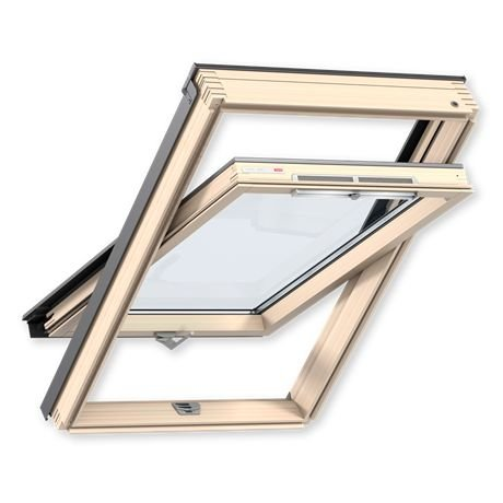 Velux Мансардное окно деревянное Optima Стандарт GZR 3050B, ручка снизу