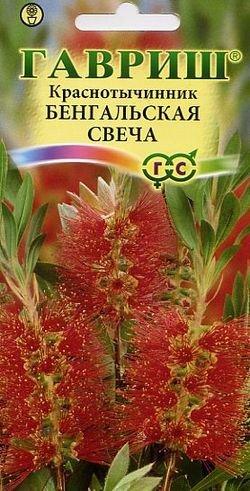 """Семена. Краснотычинник """"Бенгальская свеча"""" (10 пакетов по 0,05 г) (количество товаров в комплекте: 10)"""