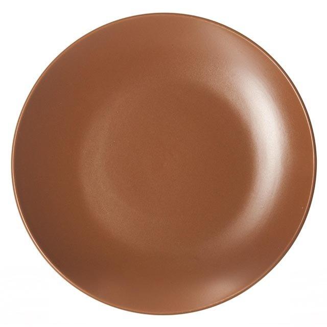 тарелка коричневый 21,2см дес. керамика коричн.