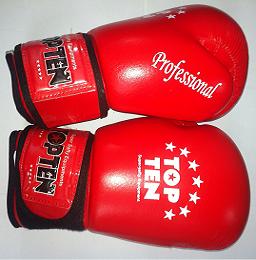 Перчатки боксерские Top Ten красные