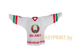 Майка болельщика сборной Республики Беларусь (белая)