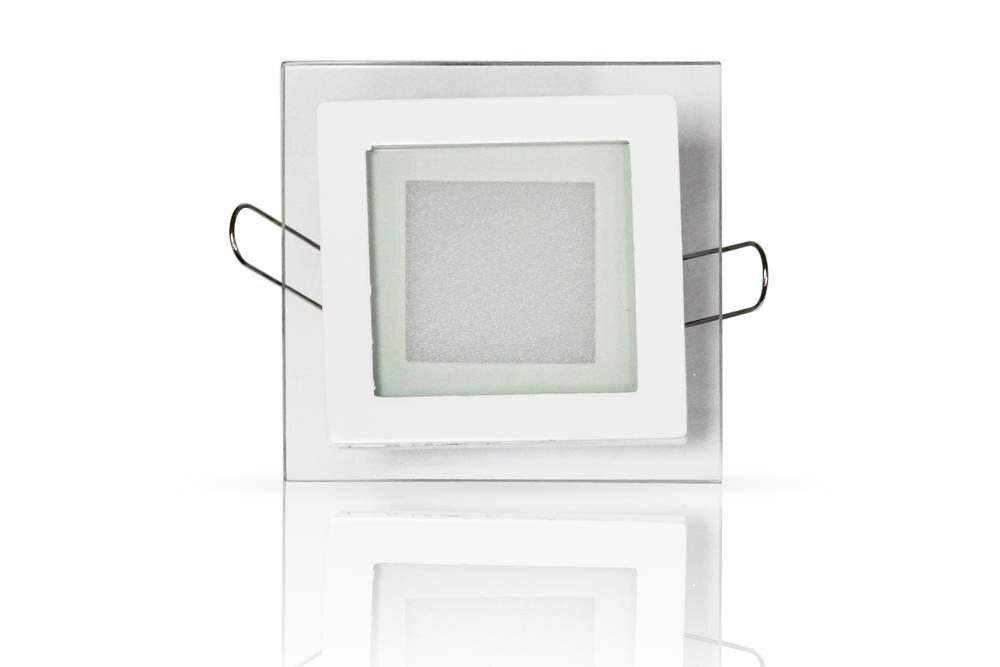 Стеклянная панель BL-S6 (квадрат, 6W, 100x100mm) (теплый белый 3000K)