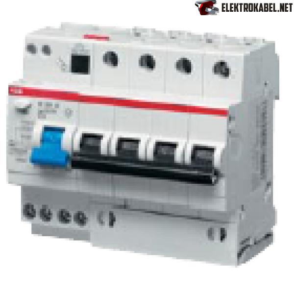 ABB DS204 C16 Диффавтомат 4P 16А (C) 6kA тип AC 30mA (6мод.) (2CSR254001R1164)