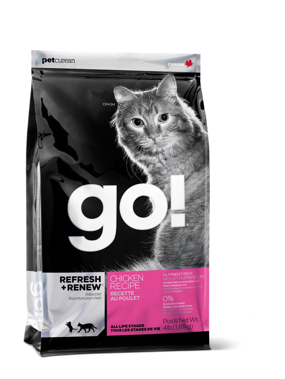 Сухой корм для кошек и котят GO! Natural цельная курица, фрукты, овощи 7,26 кг