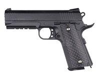 Пистолет игрушечный детский для мальчика металлический на 6 мм шариках пружинный железный 19.5 см. G25 Galaxy