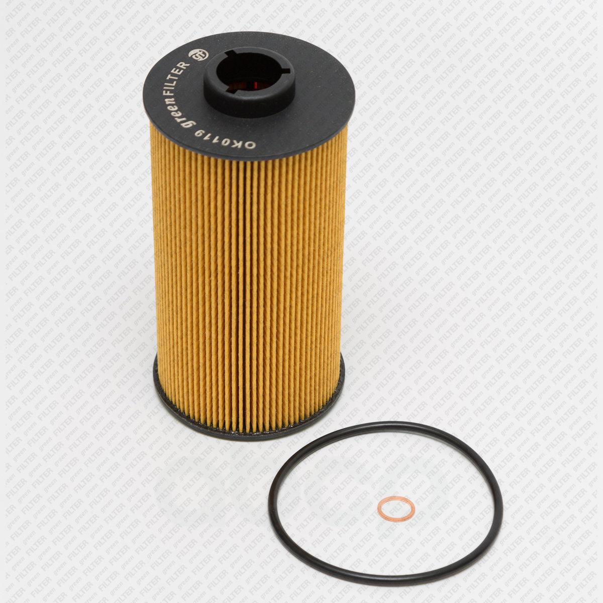 Фильтр масляный bmw 5 (e34) 3.0,4.0,v8 92- / (e39) 3.5,4.0 96- / 7 (e32) 3.0-5.0,v8,v12 94- / (e3 Green Filter арт. OK0119