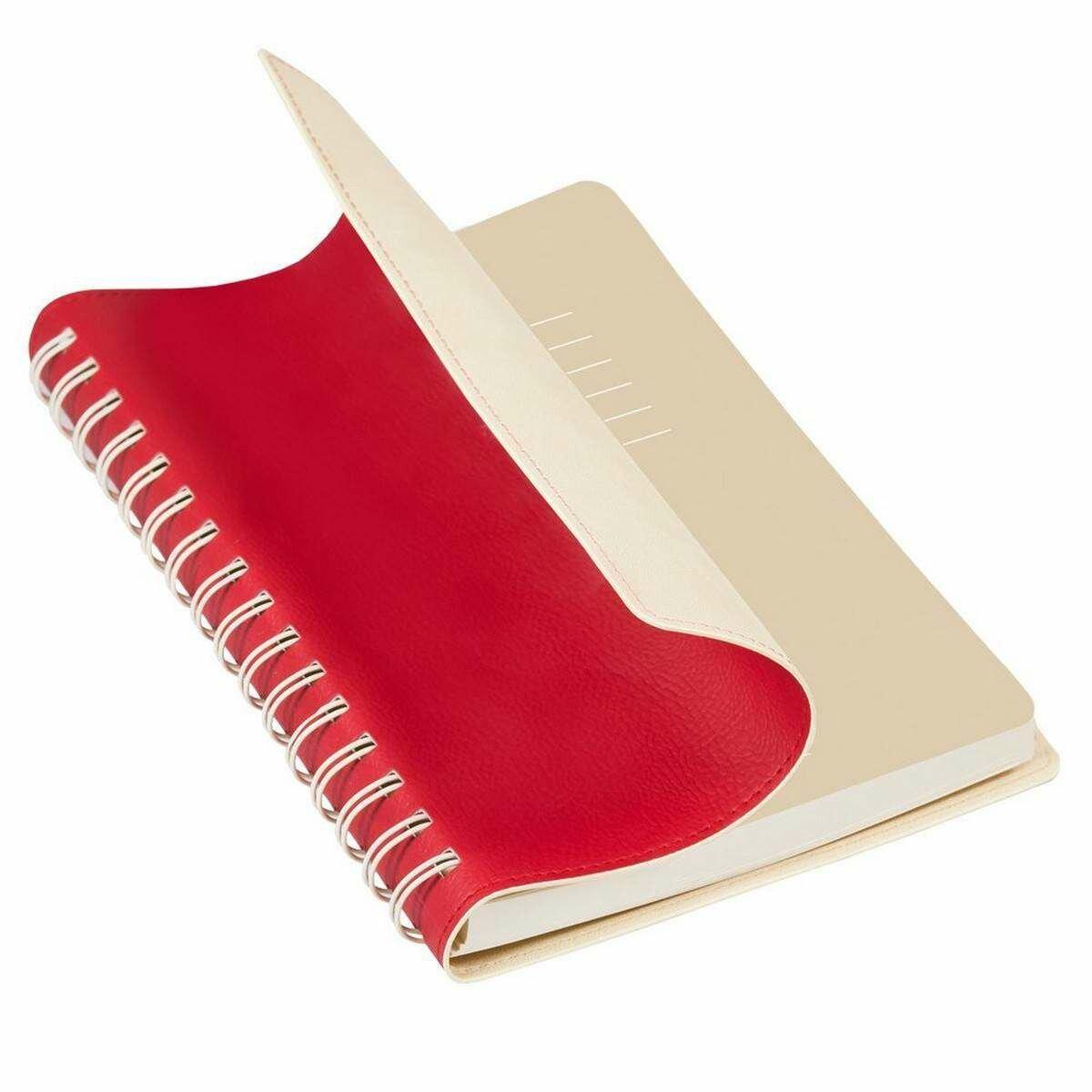Ежедневник недатированный Portobello Trend Vista, А5, 128 листов, красный/бежевый