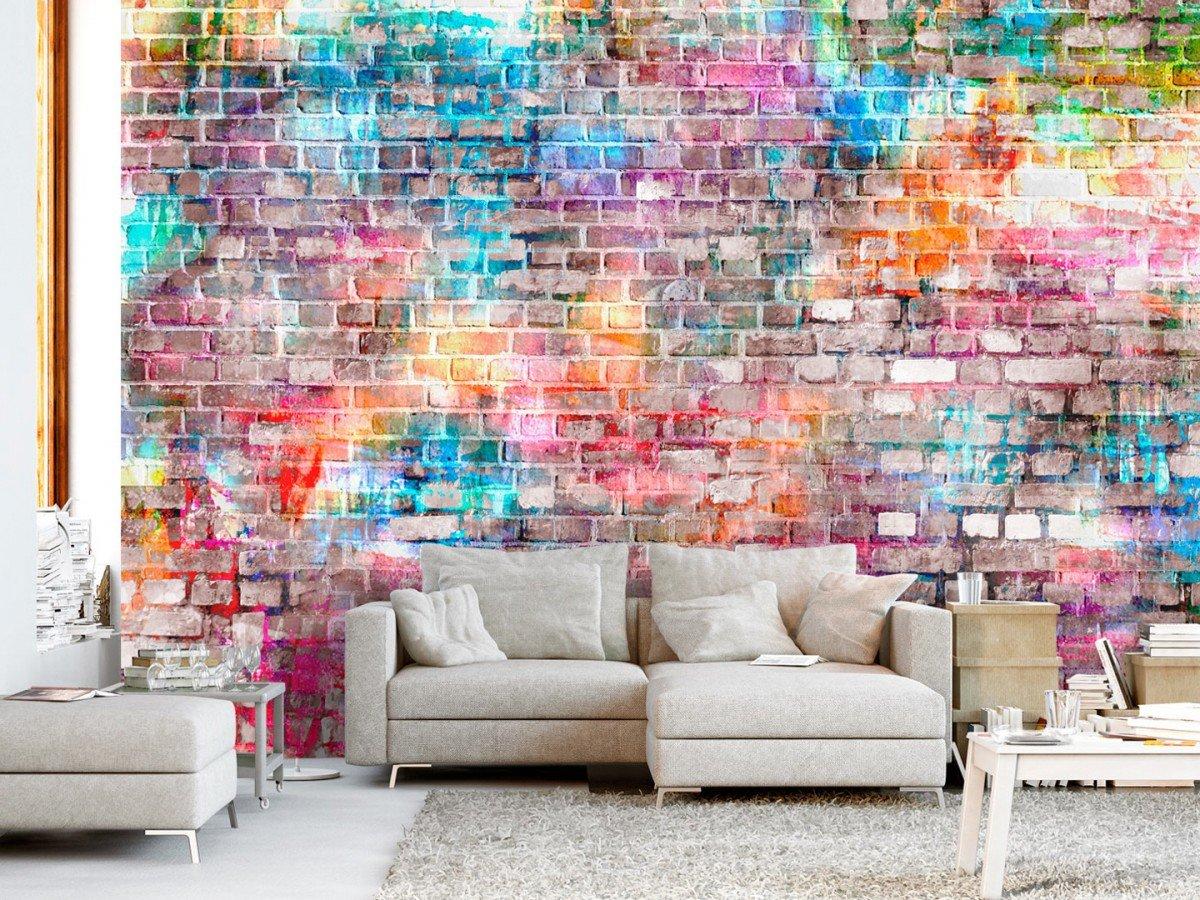 Фотообои «Цветной кирпич», 150x105 см