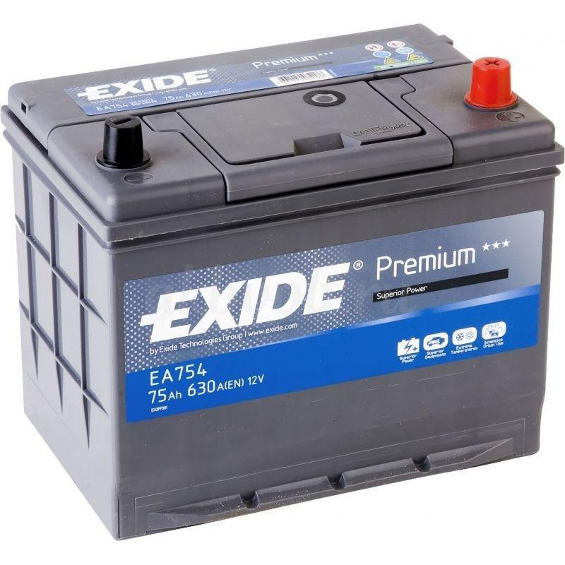 Аккумулятор Exide Premium 75Ач обратная полярность EA754