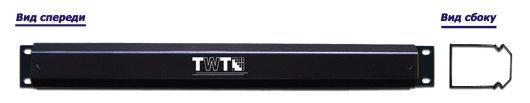 """Органайзер кабельный TWT 19"""" TWT-ORG-CV-1U (с крышкой)"""