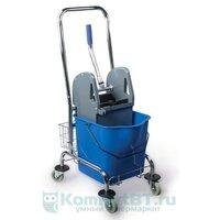 Набор для уборки Brabix Тележка уборочная 25 л синяя 601498