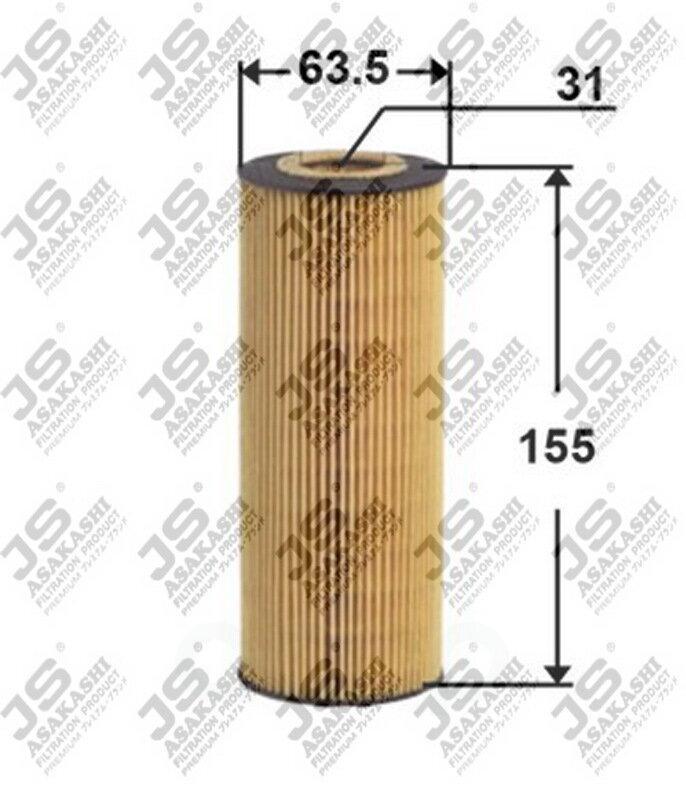 Фильтр масляный bmw 1(e81/87), 3(e90), 5(e39/60) JS Asakashi арт. OE0029