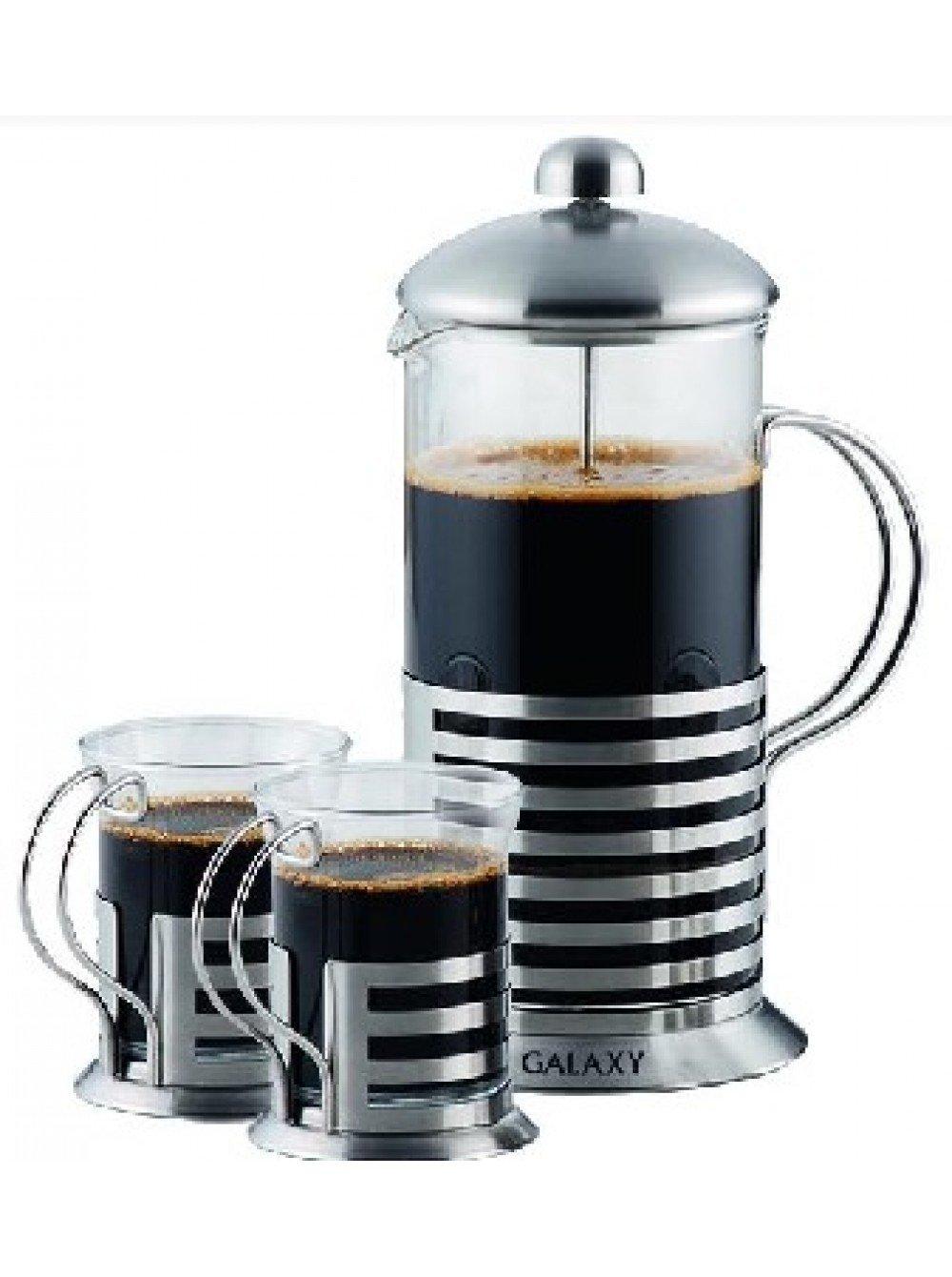 Чайник Заварочный GALAXY GL 9319 френч-пресс 0,6л + 2чашки