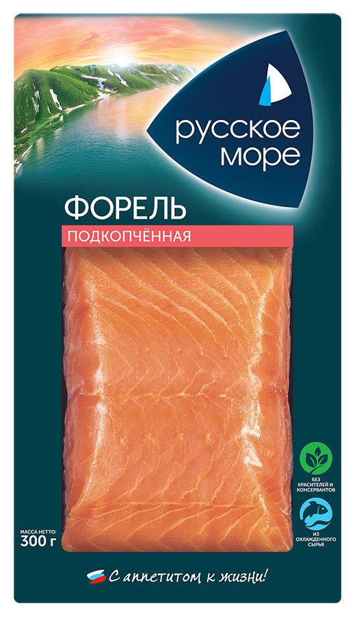 Форель Русское море филе кусок подкопченная 300г