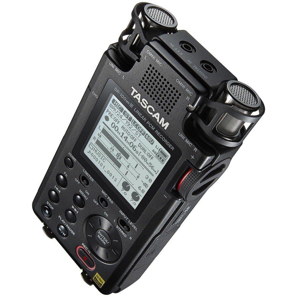 Tascam DR-100 MK3 портативный PCM стерео рекордер с встроенными микрофонами, Wav/MP3
