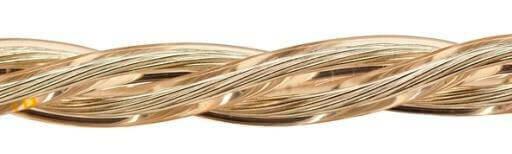 Ретро кабель (50м) 3*1.5 прозрачный, ПУП(Л) Подольсккабель
