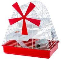 Клетка для хомяков Ferplast Magic Mill с лопастями, бело-красная