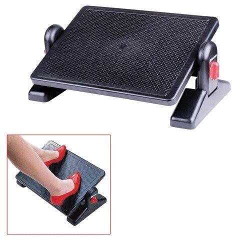 Подставка для ног BRAUBERG с фиксаторами, черная