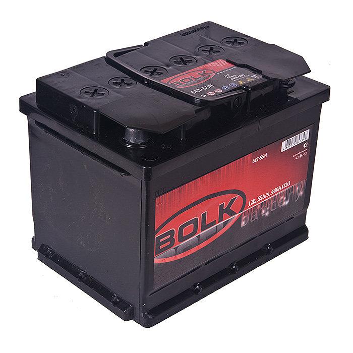 Аккумулятор 60 А/ч BOLK европейская полярность BOLK-60-OP