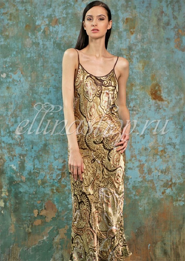 Шелковая длинная сорочка Martine 1391310 Oryades,
