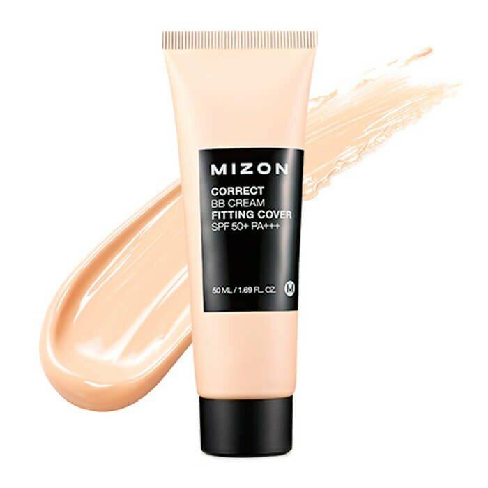 MIZON Корректирующий BB крем с антивозрастным и увлажняющим эффектом Correct BB Cream Fitting Cover SPF 50+ PA+++
