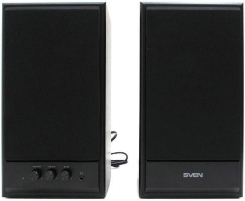 Компьютерная акустика Колонки Sven SPS-702 2х20 Вт черная кожа