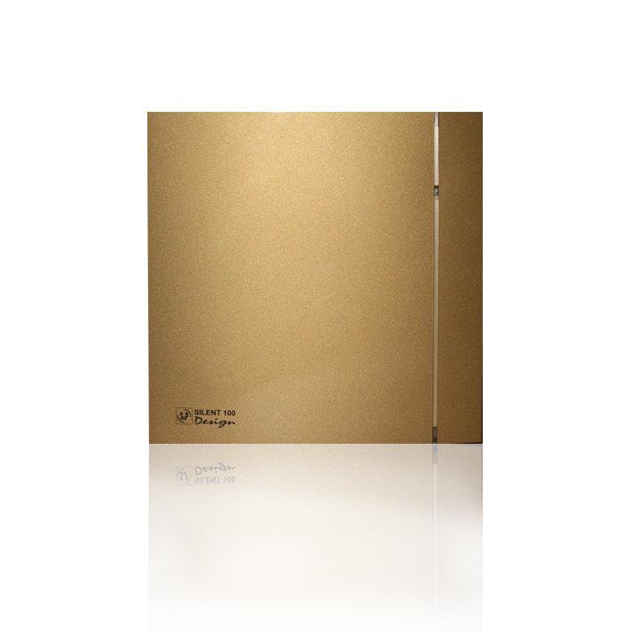 Накладной вентилятор Soler & Palau SILENT 100 CHZ DESIGN GOLD (датчик влажности)