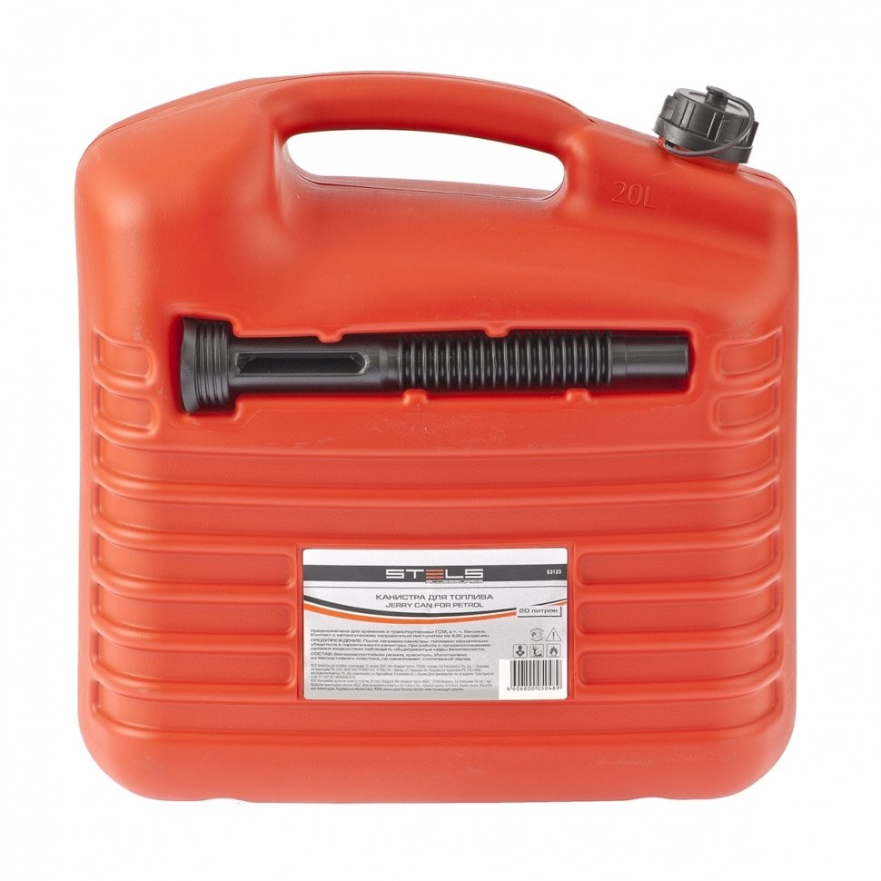 Канистра для топлива, пластиковая, 20 литров STELS 53123