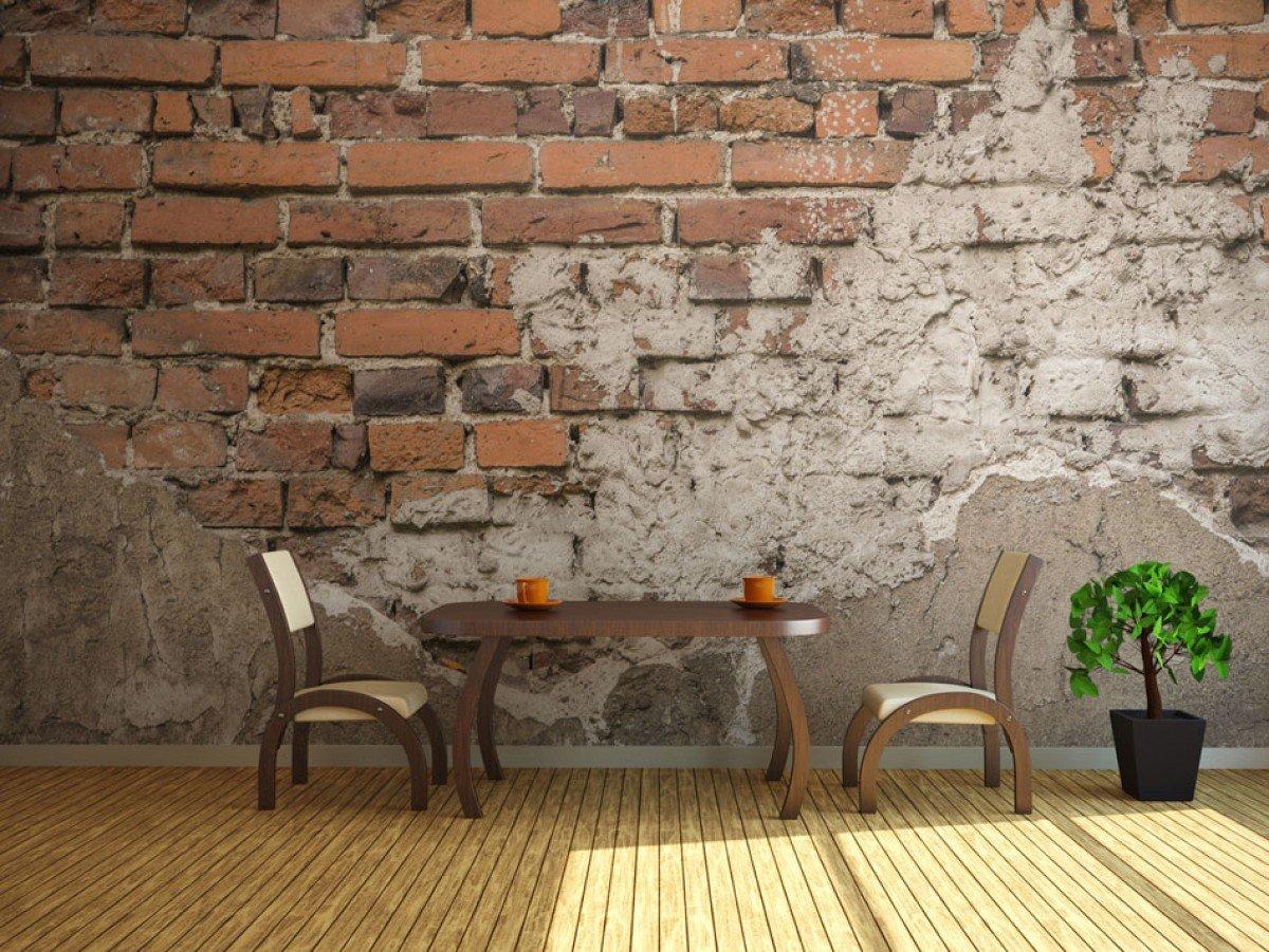 Фотообои «Старая кирпичная стена», 150x162 см