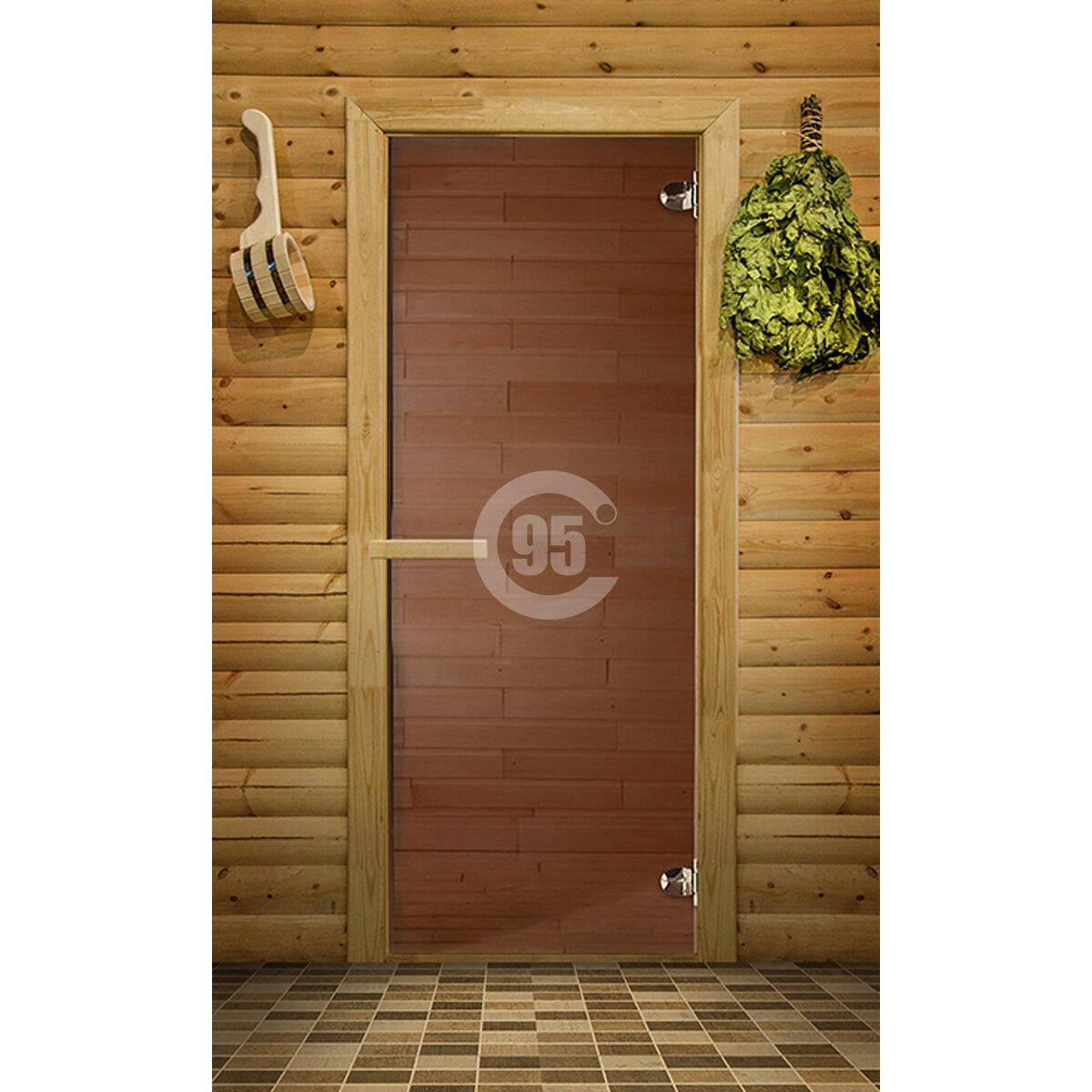 Дверь для сауны Just a Door Бронза 700х1900