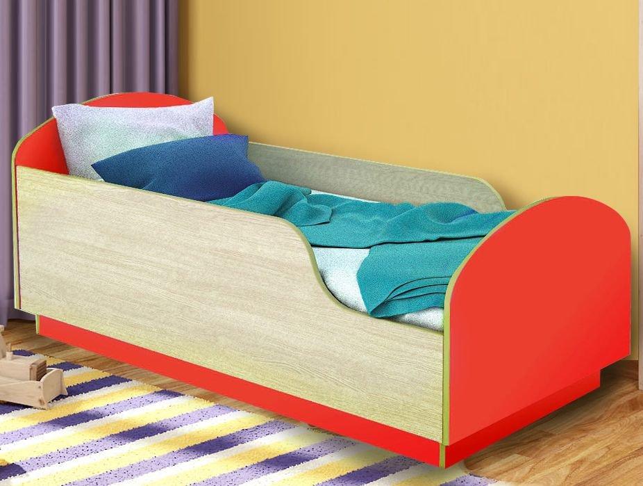Детская Кровать Малыш 140 Красный