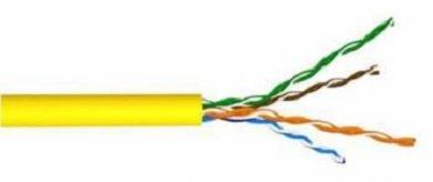 LAN-5EUTP-YL Кабель витая пара Lanmaster U/UTP 4 пар. кат. 5е Ø 49мм AWG24 PVC 200МГц 1м (бухта 305м) тип прокладки: внутри зданий цвет: жёлтый