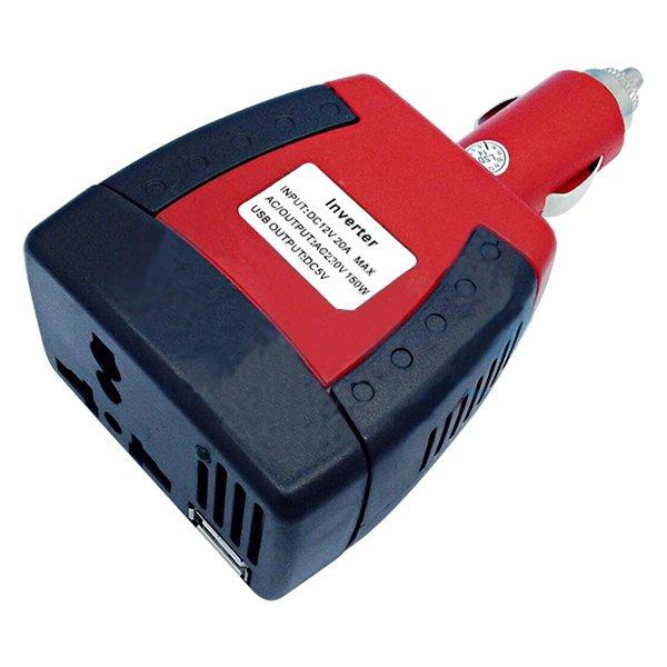 Автомобильный портативный инвертор 75W 12V - 220V c USB зарядкой (202-007-1)