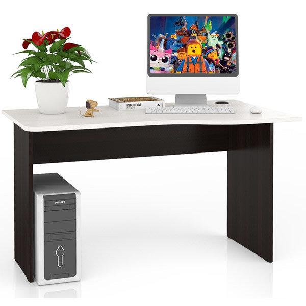 Стол письменный МД 1.04, цвет венге/дуб, универсальная сборка