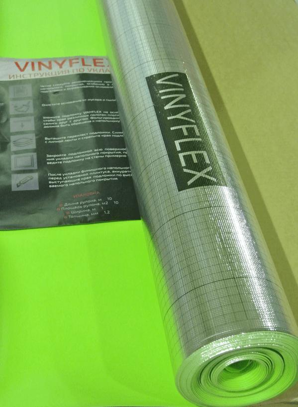 Подложка Vinyflex для виниловых полов 10000x1100x1 рулон 11кв.м.