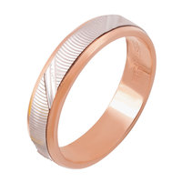 4b103235b2f4 Кольцо обручальное с вращающейся вставкой из комбинированного золота 585  пробы, размер 16.5