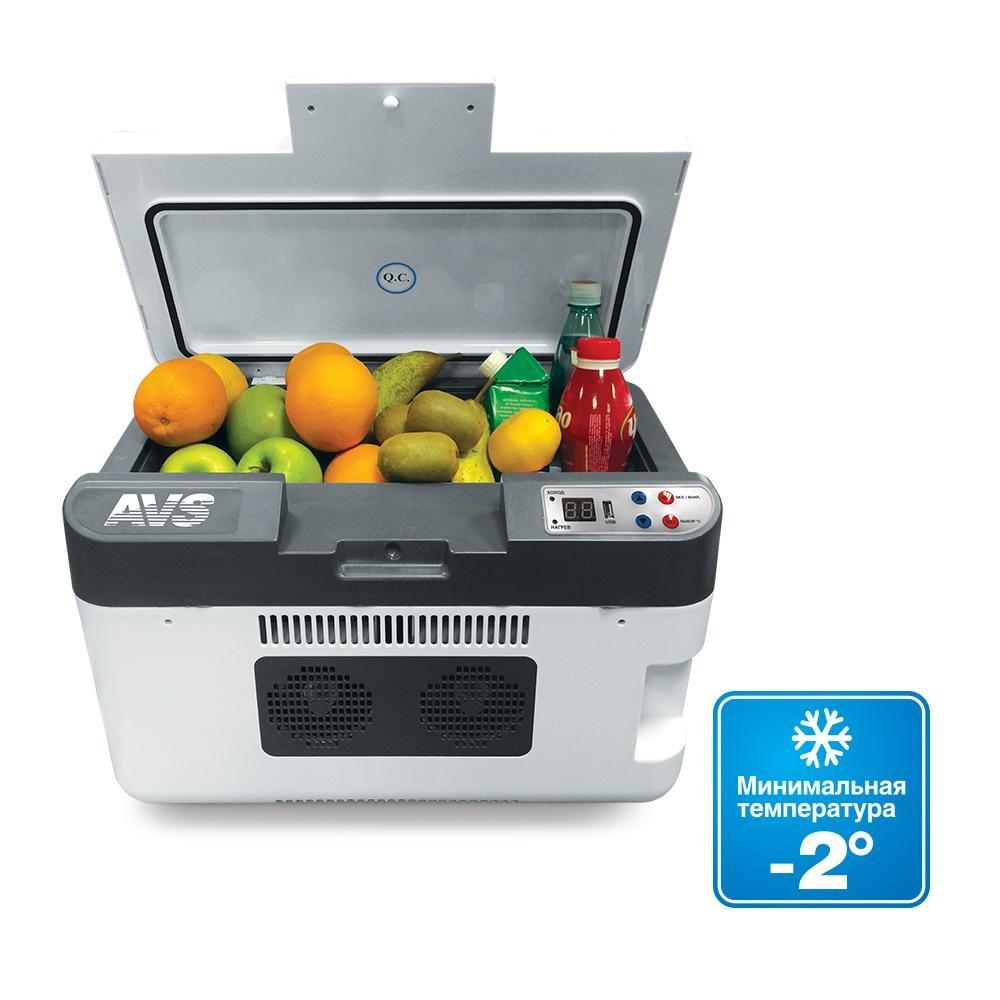 Термоэлектрический автохолодильник AVS CC-24WBC (24л, 12/24/220В, USB)