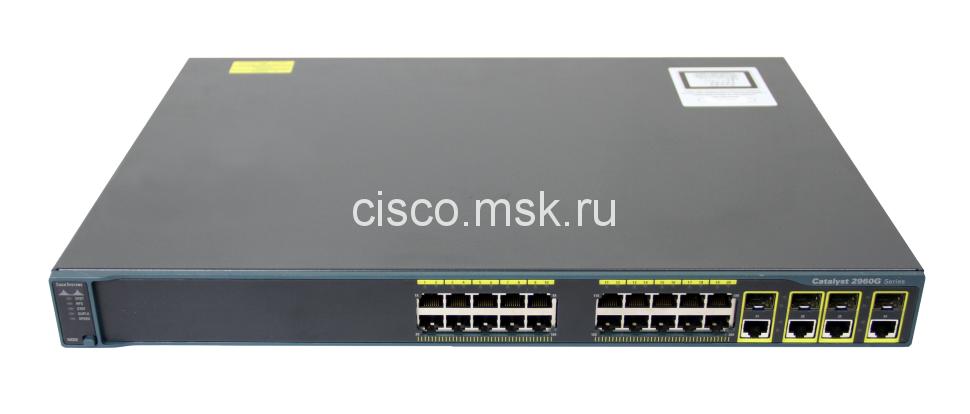 Коммутатор Cisco Catalyst WS-C2960G-24TC-L - 24xGE + 4x (SFP), LAN Base