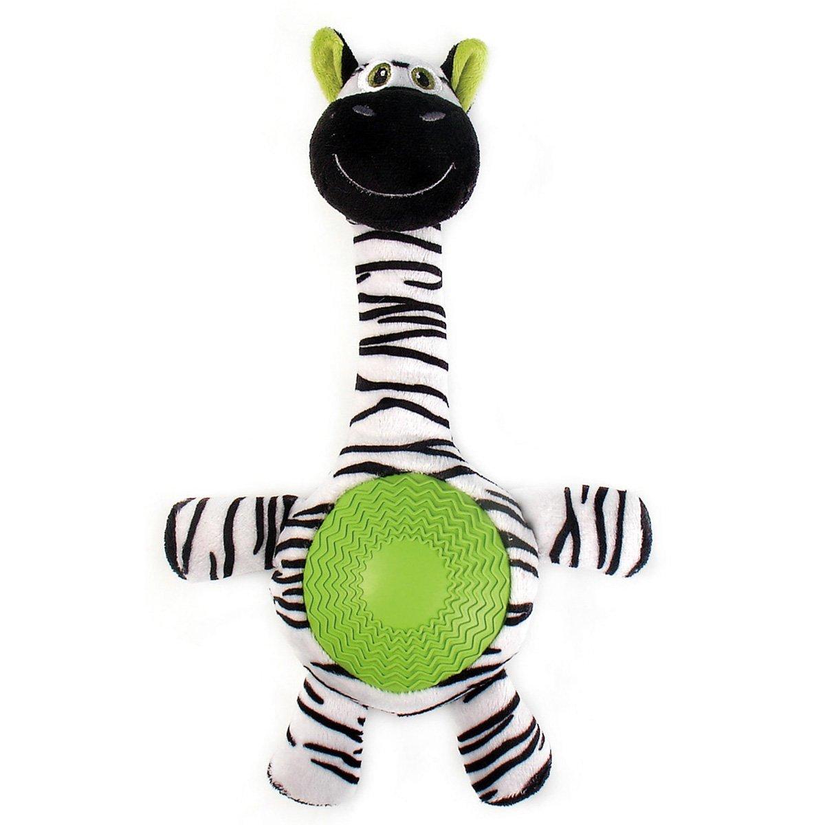 """Игрушка плюшевая """"Зебра"""" с резиновым животиком и пищалкой (21см), V.I.Pet 13403"""