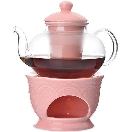 Заварочный чайник Loraine сито, подогрев 600 мл