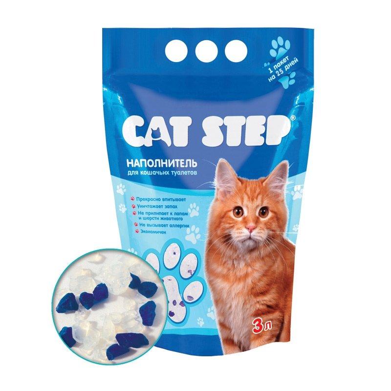 Наполнитель для кошачьих туалетов CAT STEP Силикагель впитывающий 3л