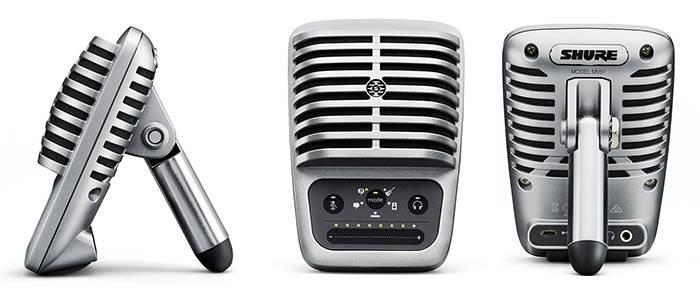 SHURE MOTIV MV51 цифровой конденсаторный микрофон для записи на компьютер и устройства Apple