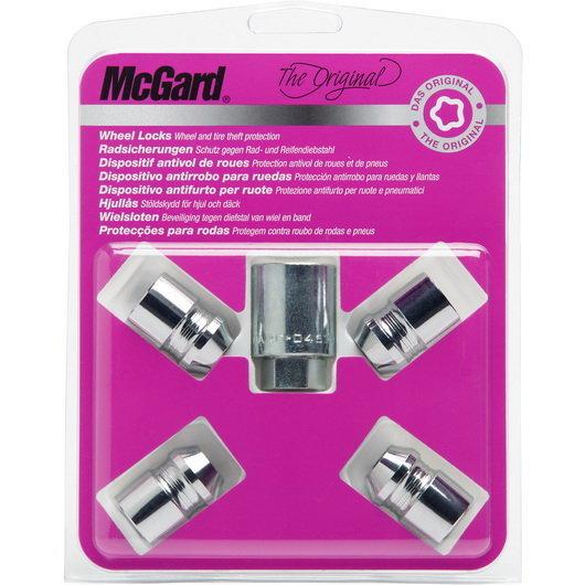 Секретные гайки McGard на колеса 4шт. (гайки, М12*1.25, длина резьбы: 32.5 мм, размер ключа: 19 мм) 24152 SU