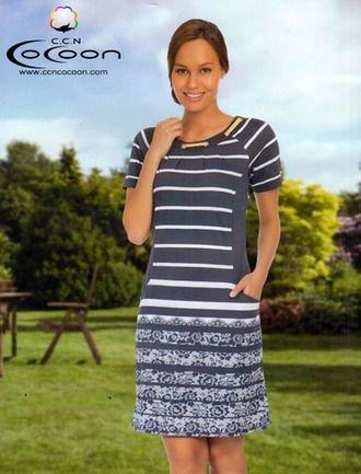 Летнее платье из модала 17031 размер 44 (S)
