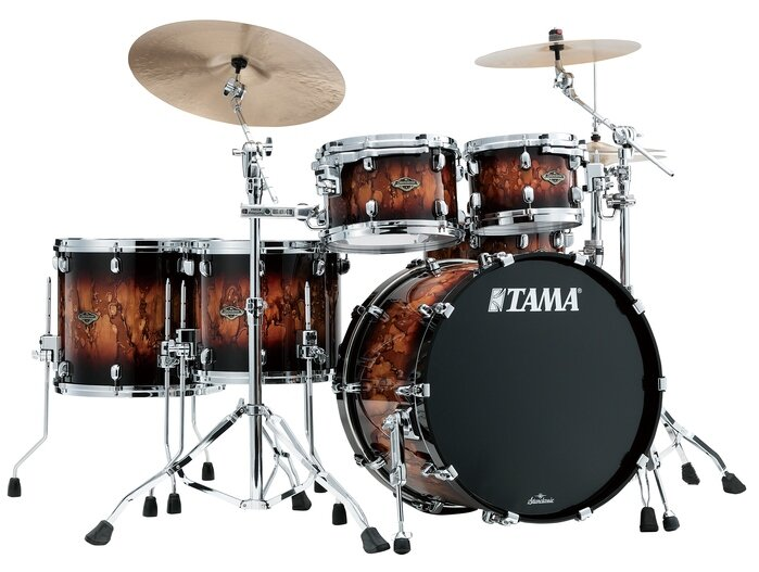 TAMA WBS52RZS-MBR STARCLASSIC WALNUT/BIRCH ударная установка из 5-ти барабанов, цвет коричневый бёрст, орех/берёза