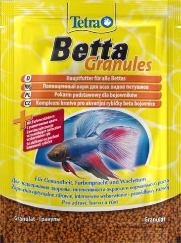 "Корм для рыб ""Tetra Betta Granules""в гранулах, 5 г"
