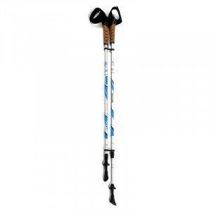Палки для скандинаской ходьбы 85-135см, сер.+син., ремешок, ручка пробка AQD-B004-6061 Ecos 999986