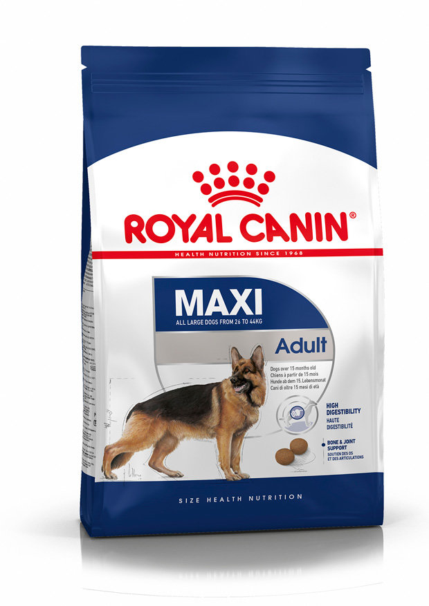 Сухой корм Royal Canin Корм для собак крупных пород Maxi Adult, 15 кг